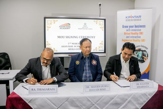 (From left - right) RA Thiagaraja, CEO of ARA, Dr. Mayjen (PURN) Djanadi Bimo, Chairman of Trisakti Foundation, and Dr. Juliater Simarmata, Vice President of Trisakti Foundation are signing the MoU