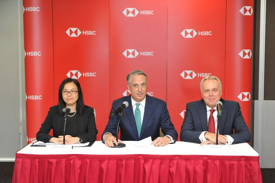 HSBC leads the first live pilot blockchain letter-of-credit transaction in Malaysia… (L- R) Debbie Mak, Country Head, Global Trade and Receivables Finance, HSBC Malaysia; Stuart Milne, Chief Executive Officer, HSBC Malaysia; and Andrew Sill, Country Head, Commercial Banking, HSBC Malaysia at HSBC's media briefing on Malaysia's FIRST live pilot blockchain letter-of-credit transaction.