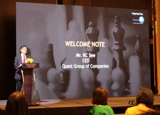 Mr. KC See, Chief Executive Officer of Quest Group of Companies, delivered the opening keynote speech at The Asian Family Business Convention 2019